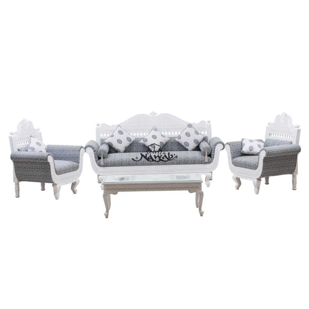 hut-shape-top-suede-fabric-with-loose-cushion-carved-sofa-set