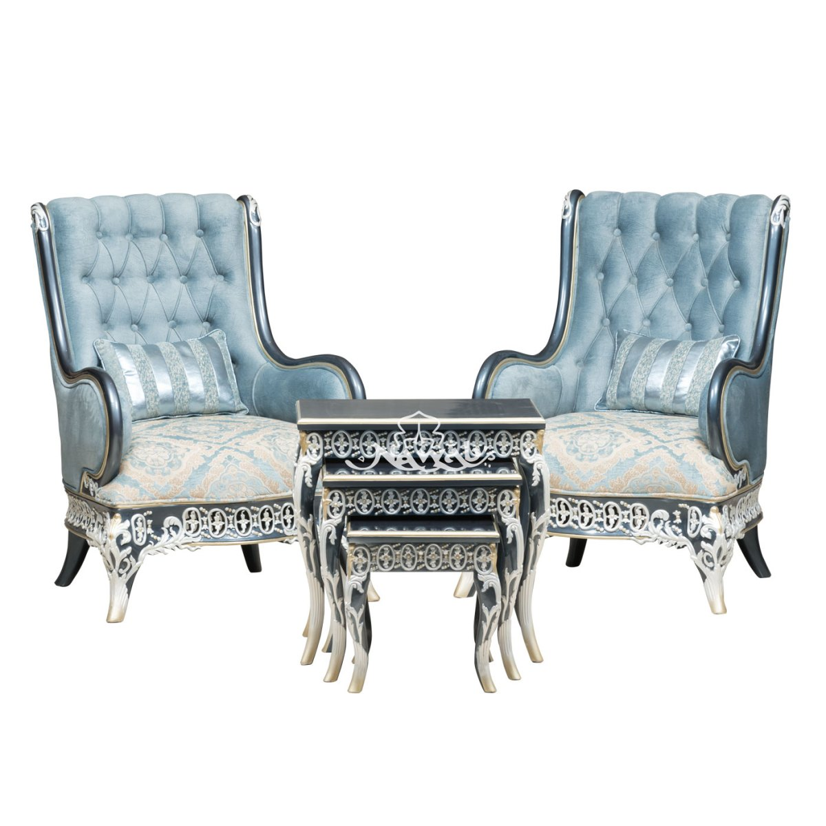 1-seater-teakwood-hand-carved-sofa-blue-white-pearl-polish-with-golden-lining-high-end-suede-upholstery-table-blue-onyx-top