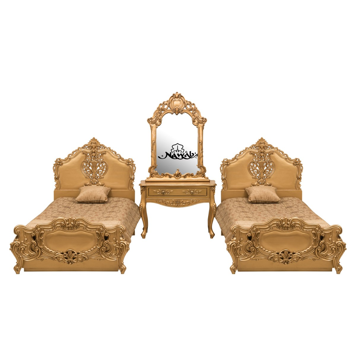 golden-pu-polish-solid-wooden-teak-with-carving