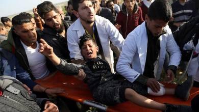 طفل أصيب خلال المواجهات مع الاحتلال بمسيرة العوة شرق غزة