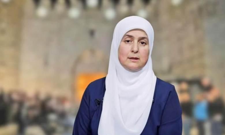 المرشحة عن قائمة القدس موعدنا فادية البرغوثي