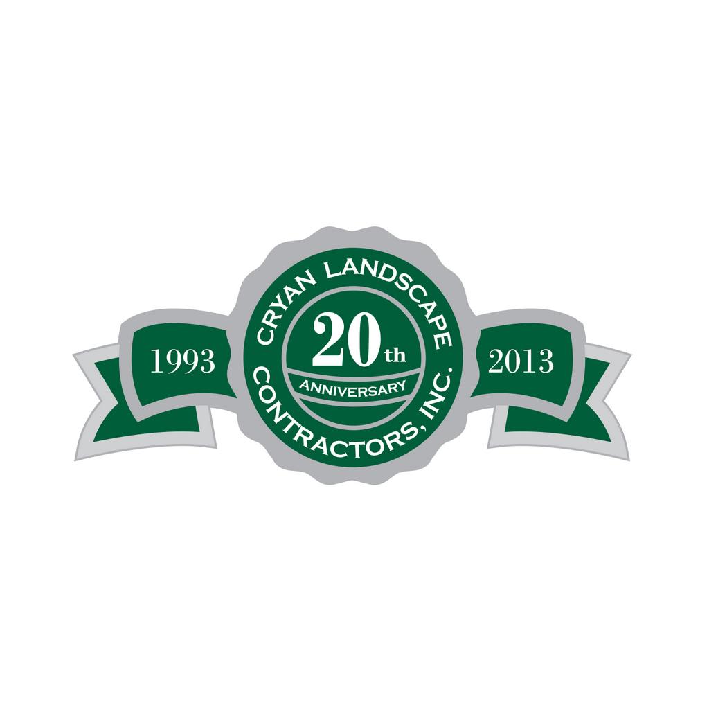 Cryan Landscape Contractors, 20th Anniversary // Logo Design