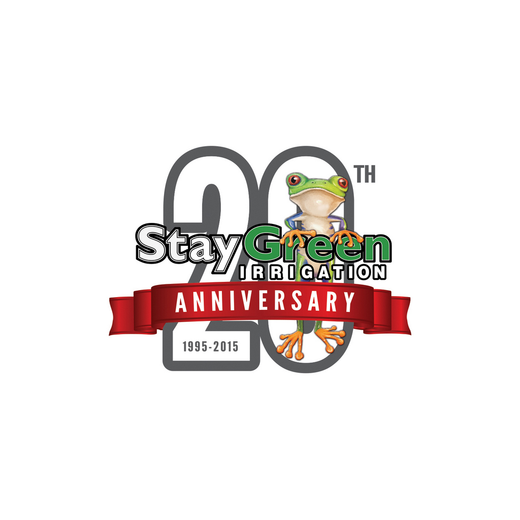 StayGreen Irrigation, 20th Anniversary // Logo Design