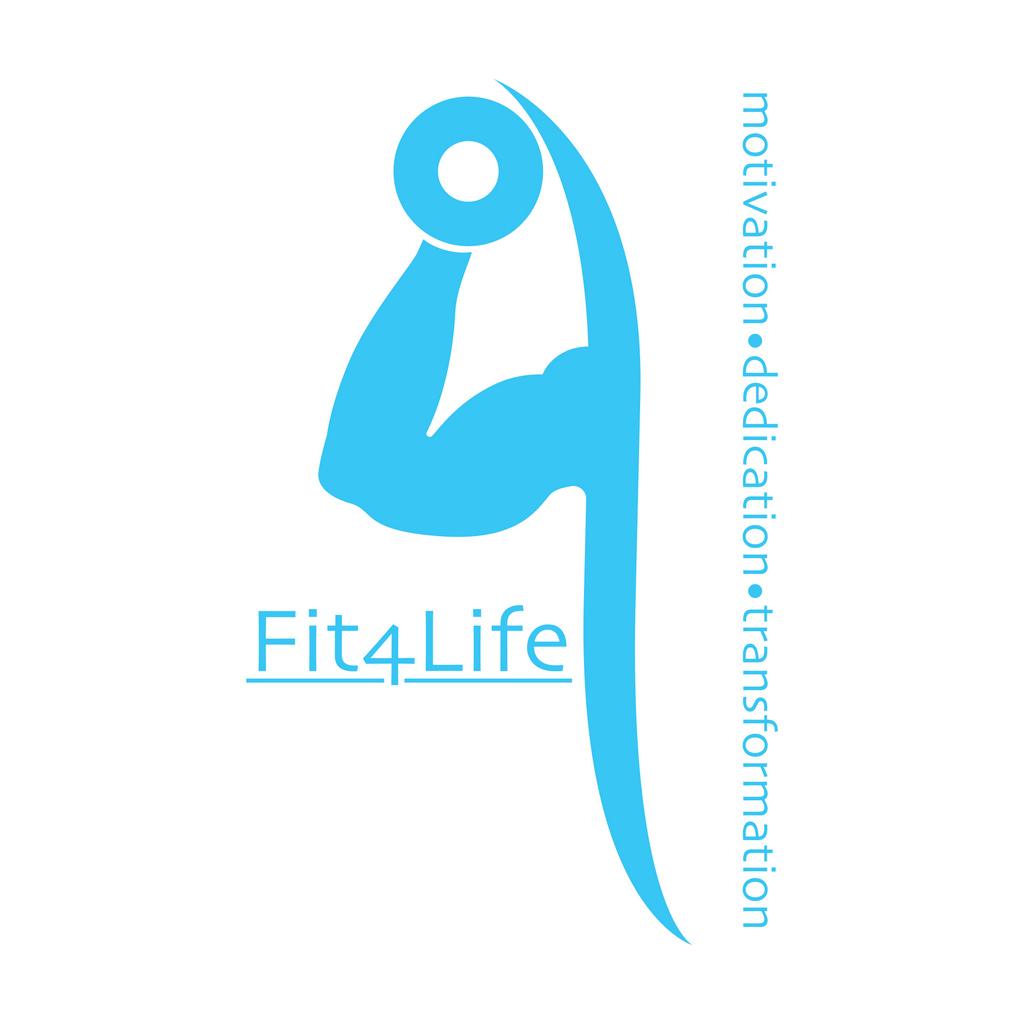 fit4lifeLOGO blue // Logo Design