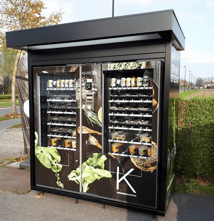 Vending machines and micro markets can offer healthy food options