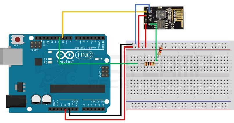 Conexiones Arduino y ESP8266