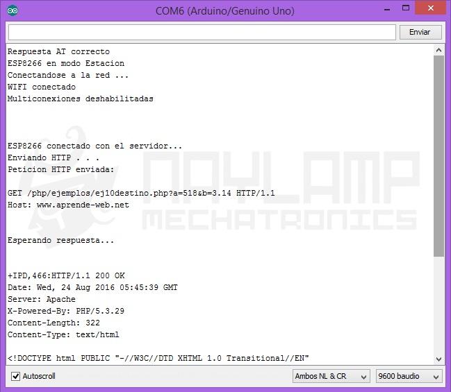 ESP8266, monitor serial 1