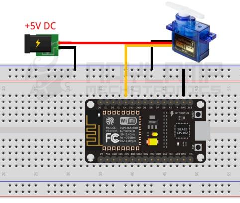 conexion servo ESP8266