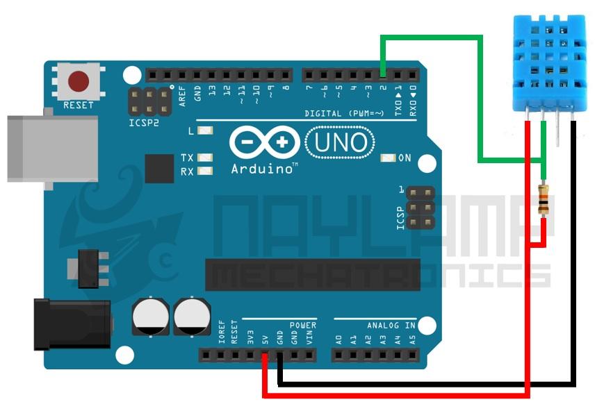 Conexion Arduino y DHT11