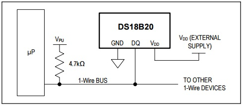 DS18B20 External Power