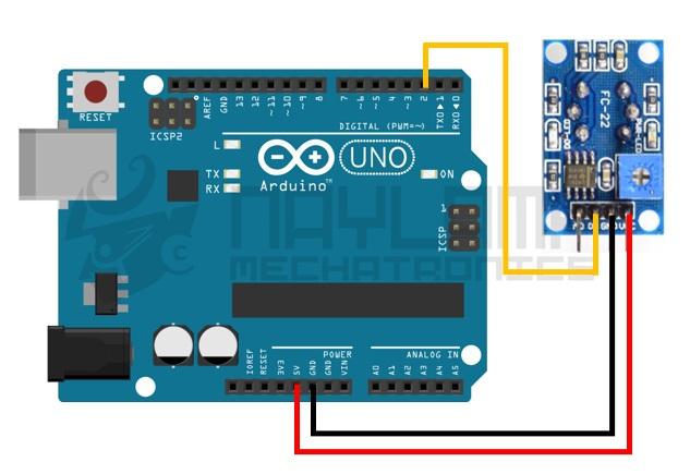 Conexion digital MQ-3 y arduino, modelo 2