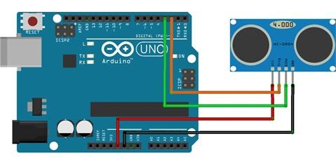 Resultado de imagen de sensor de ultrasonido arduino