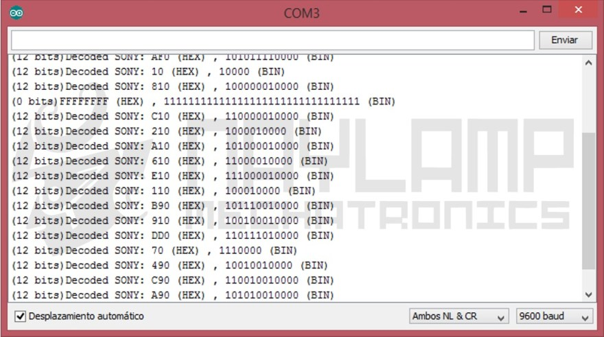 Datos protocolo SONY