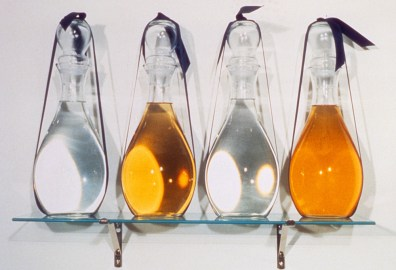 Water/Wine/Vinegar/Piss, 1987, mixed media, 12 x 20 x 6 inches