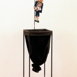 Joe Dallesandro as Augustin, 1991-1994, painted wood, cloth, and metal, 73 x 14 x 12