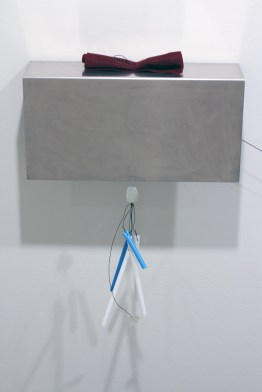 "Sterling Improvisation #6 (detail) 2011 mixed media 120"" x 40"" x 10"""