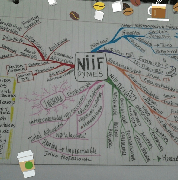 mapa mental niif pyme