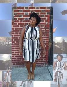 naysvoice blue and white dress plus size