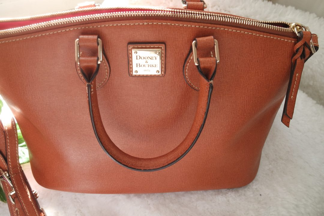 Dooney and Burke Cognac Satchel classic purse from Marshalls