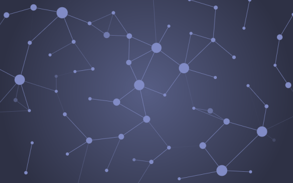 Animated floating graph nodes