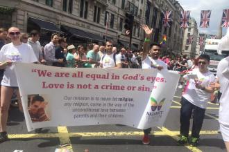 Naz & Matt Foundation volunteers marching in London Pride 2016