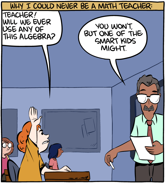 Math teacher, Saturday Morning Breakfast Cereal (SMBC)
