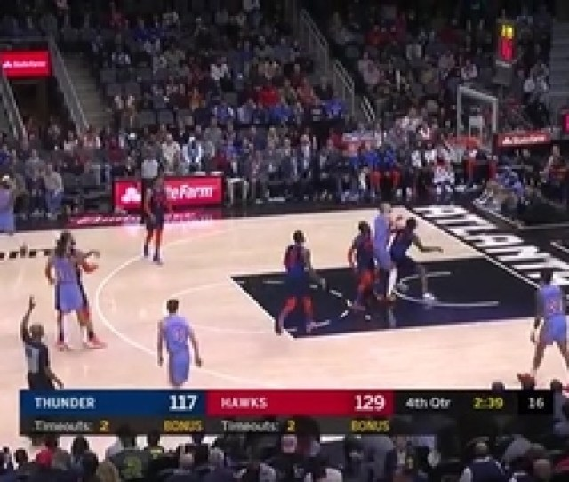 Trae Young Torches Thunder For  Assists