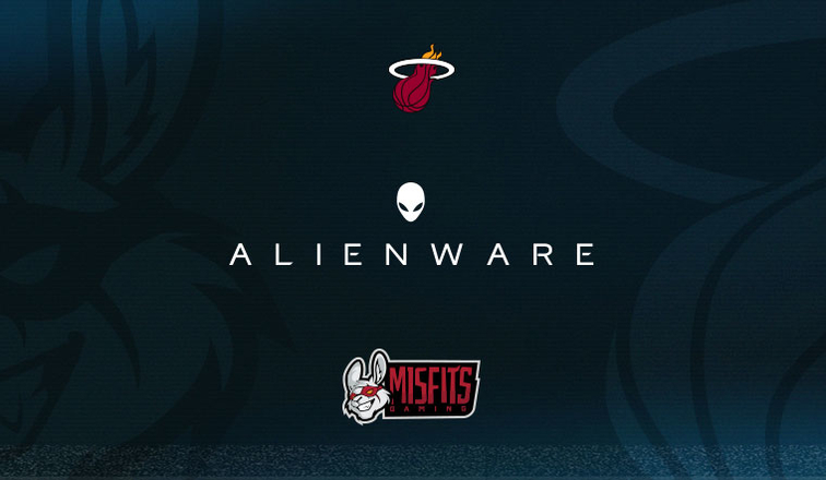 Image result for Miami HEAT and Misfits Gaming select Alienware for competitive advantage