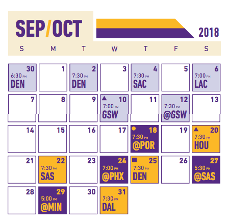 2018-19 Lakers Schedule Breakdown: October | Los Angeles ...
