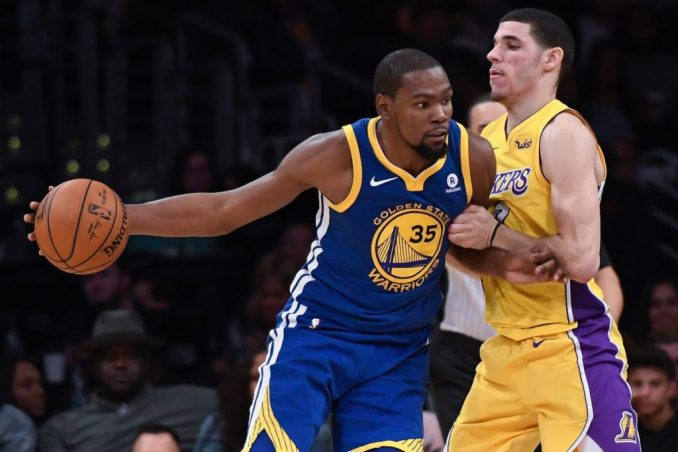 Kevin Durant, Lonzo Ball, Warriors, Lakers