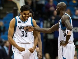 Karl-Anthony Towns, Kevin Garnett, Minnesota Timberwolves, NBA