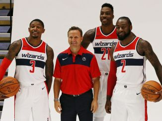 Dwight Howard, Bradley Beal, John Wall, Scott Brooks, Washington Wizards
