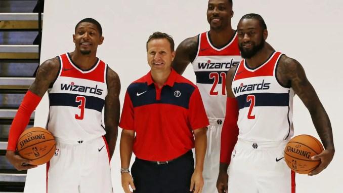 Dwight Howard, Bradley Beal, John Wall, Scott Brooks, Washington Wizards