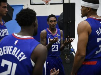 Tobias Harris, Patrick Beverley, Lou Williams, Los Angeles Clippers