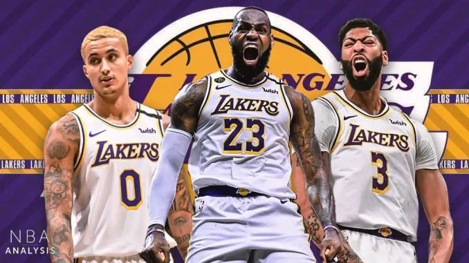 Kyle Kuzma, Anthony Davis, LeBron James