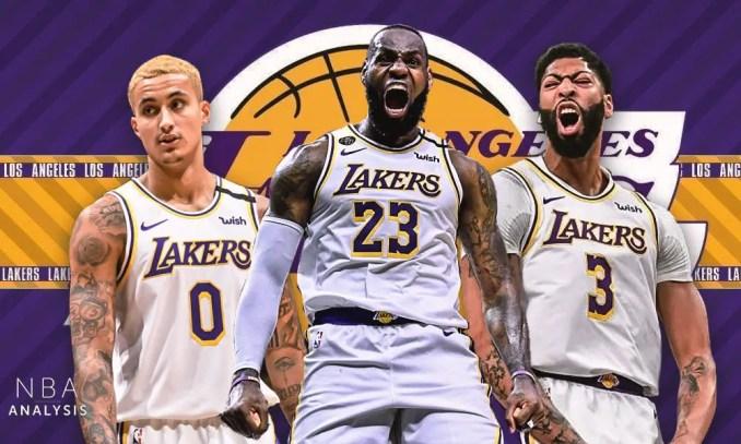 Kyle Kuzma, Anthony Davis, LeBron James, Spurs