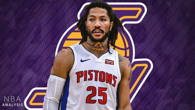 Derrick Rose, Lakers, LeBron James, Anthony Davis, NBA Trade Rumors, Detroit Pistons