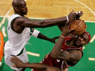Kevin Garnett, LeBron James, Cavaliers, Celtics