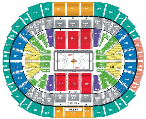 Lakers Game Seating Chart View