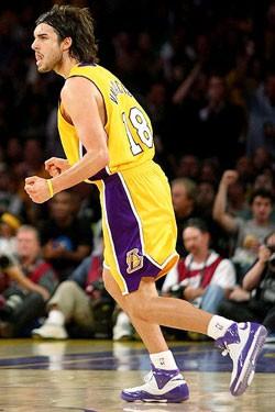 Sasha Vujacic, el segundo mejor jugador de los Lakers ayer