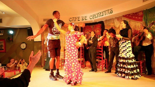 Dwight Howard bailando flamenco en Madrid