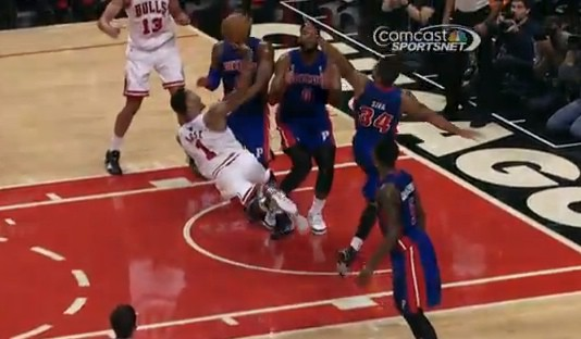 Derrick Rose Bulls Pistons