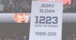 Los Jazz homenajean a Jerry Sloan 'retirando' el número 1223, el de sus victorias