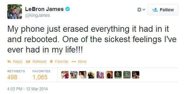 tuit LeBron James Samsung Twitter