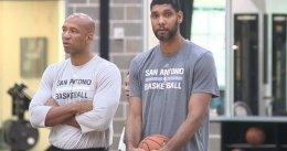 Tim Duncan reaparece en un entrenamiento de los Spurs