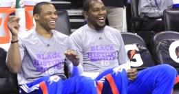 """Paul George asegura que KD y Westbrook son de nuevo """"colegas"""""""