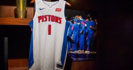 Los Pistons presentan sus nuevas camisetas y patrocinador