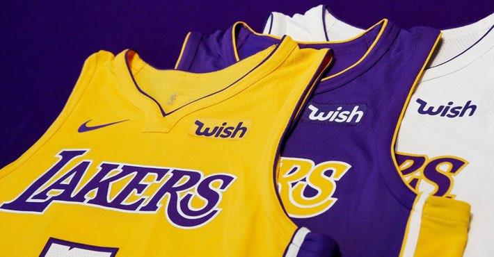 Los Ángeles Lakers presentaron a Wish como nuevo patrocinador