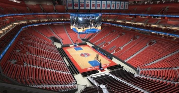 Los Pistons inauguran el Little Caesars Arena con victoria