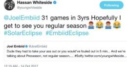 Embiid y Whiteside se enzarzan en la pista y continúan en Twitter